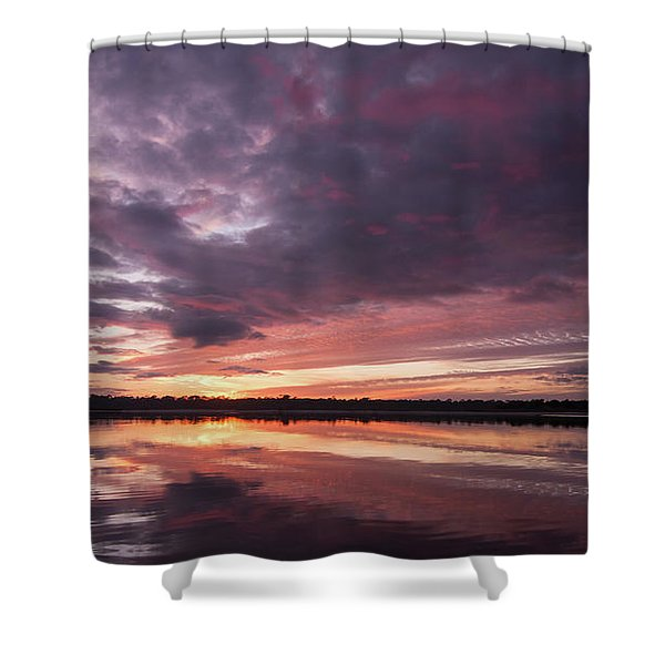Halifax River Sunset Shower Curtain