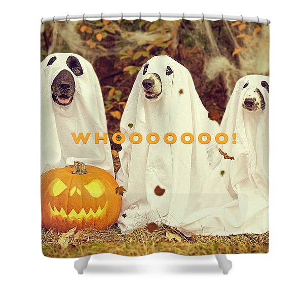 Halloween Hounds Shower Curtain