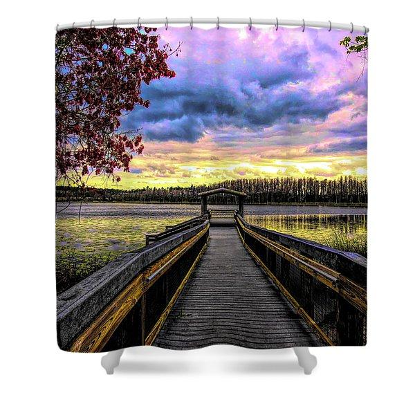 Hammond Lake Shower Curtain