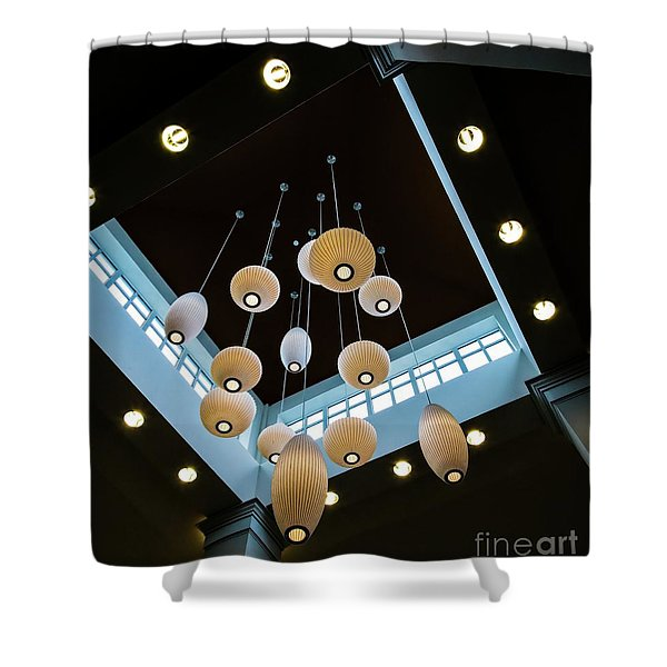 Hanging Lights Shower Curtain