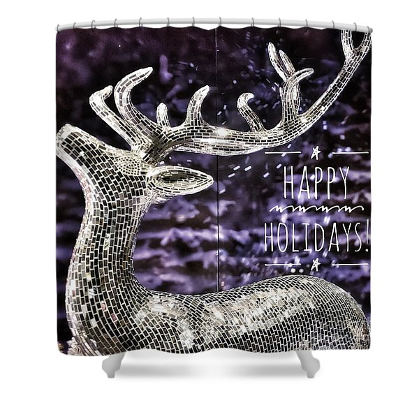 Happy Holiday Sparkle Shower Curtain