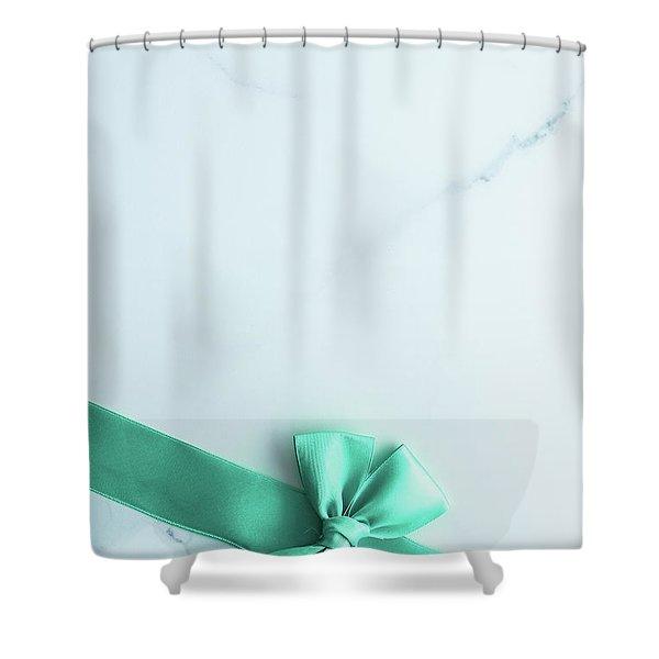 Happy Holidays V Shower Curtain