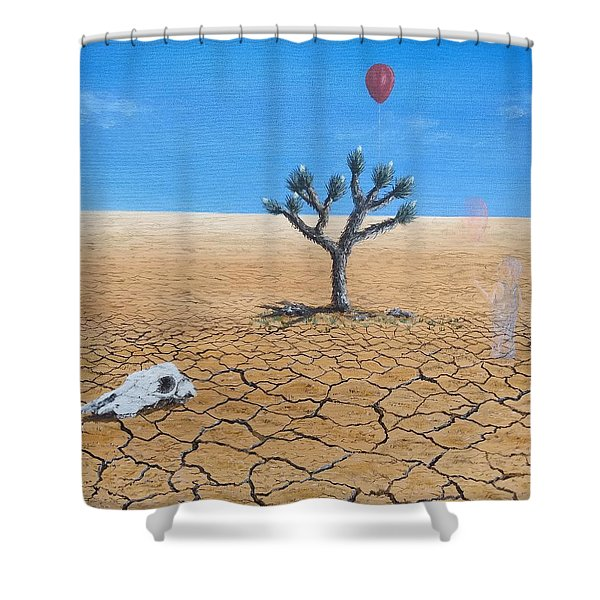 Shower Curtain featuring the painting Happy Little Tree by Kevin Daly