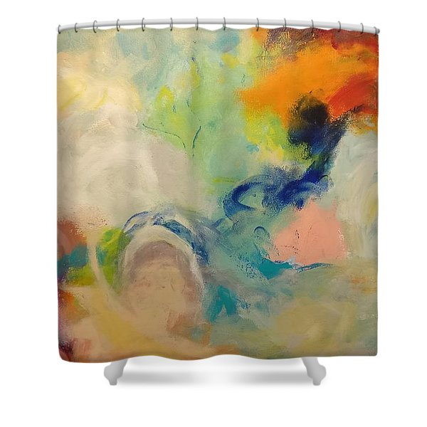 Happy Motions Shower Curtain