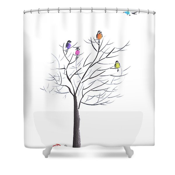 Happy Reunion Shower Curtain
