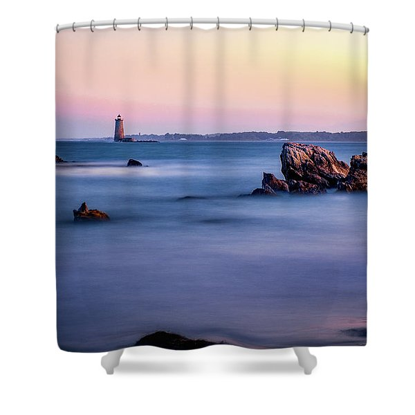 Shower Curtain featuring the photograph Harbor Light by Jeff Sinon