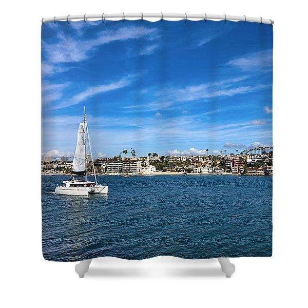 Harbor Sailing Shower Curtain