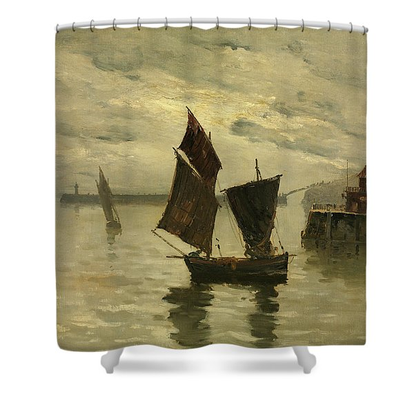 Harbor Scene Shower Curtain