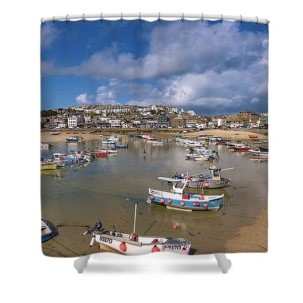 Harbour - St Ives Cornwall Shower Curtain