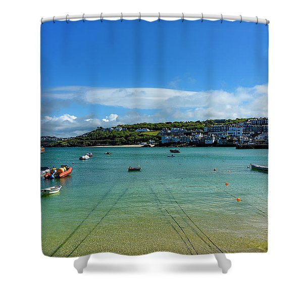 Harbour To Porthminster St Ives Cornwall Shower Curtain