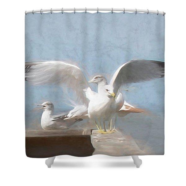 Harbour Watch Shower Curtain