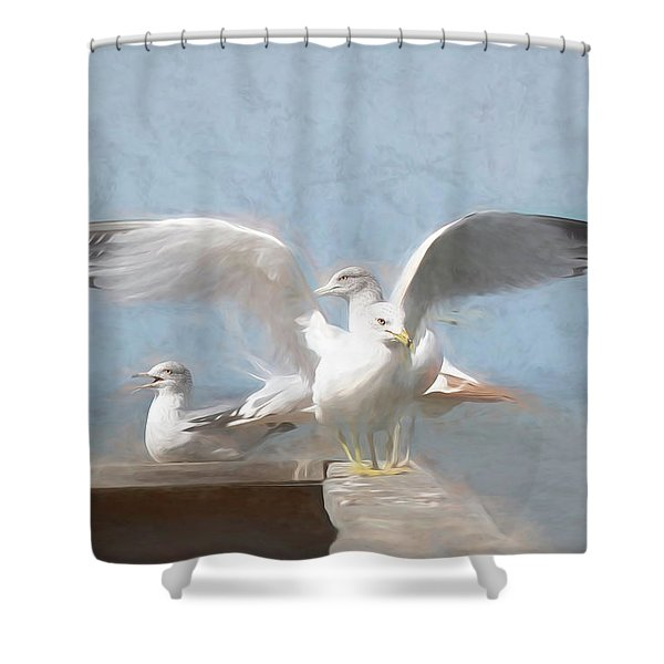 Harbour Watch Shower Curtain