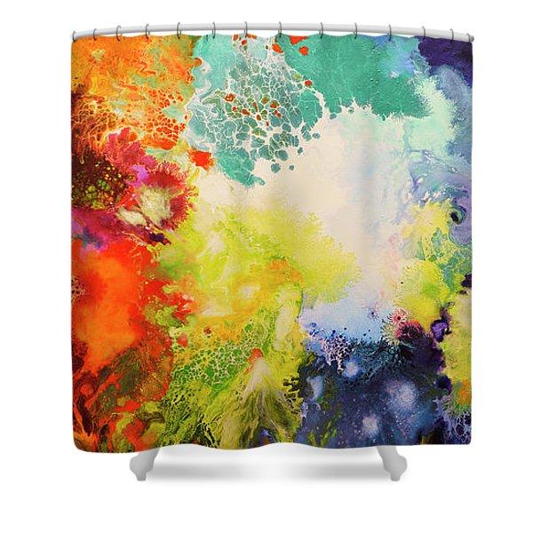 Harmonic Vibrations Shower Curtain