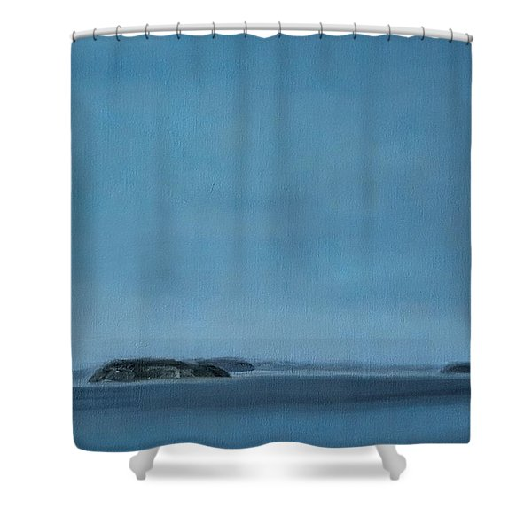Hat Island View From Harborview Park Shower Curtain