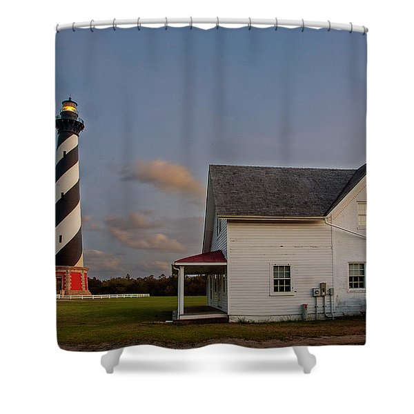 Hatteras Lighthouse No. 3 Shower Curtain