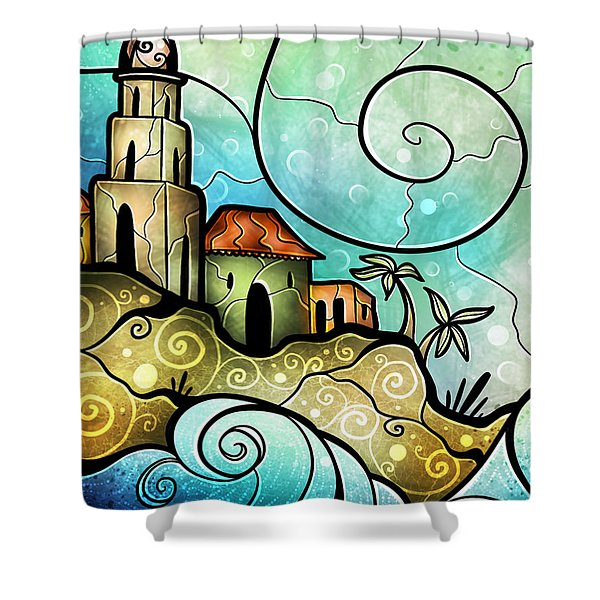 Havana Bay Shower Curtain