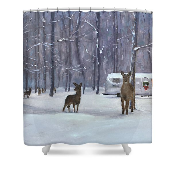 Have Yourself A Shiny Little Christmas Shower Curtain
