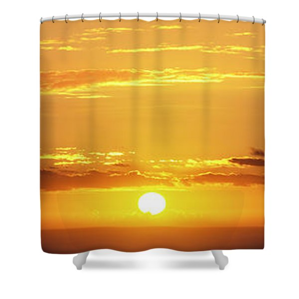 Hawaiian Sunset Vertical Panoramic  Shower Curtain