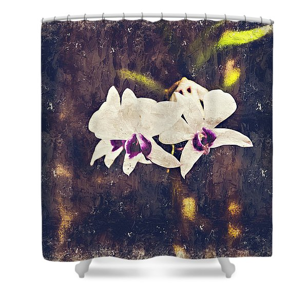 Hawaiian Tree Orchid Shower Curtain