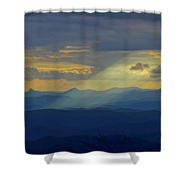 Shower Curtain featuring the photograph Hawks Bill Mountain Sunset by Meta Gatschenberger