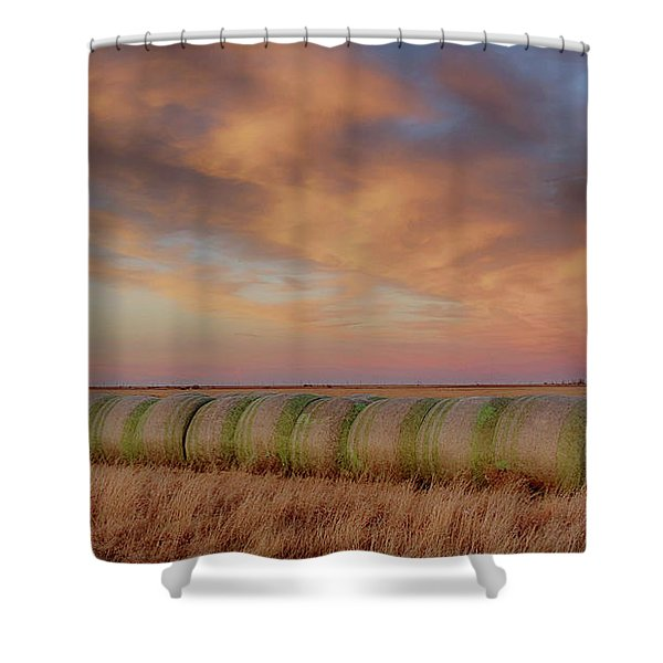 Hay Bales On The High Plains Shower Curtain