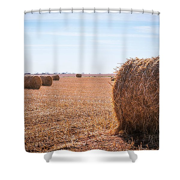 Hay Rolls Shower Curtain