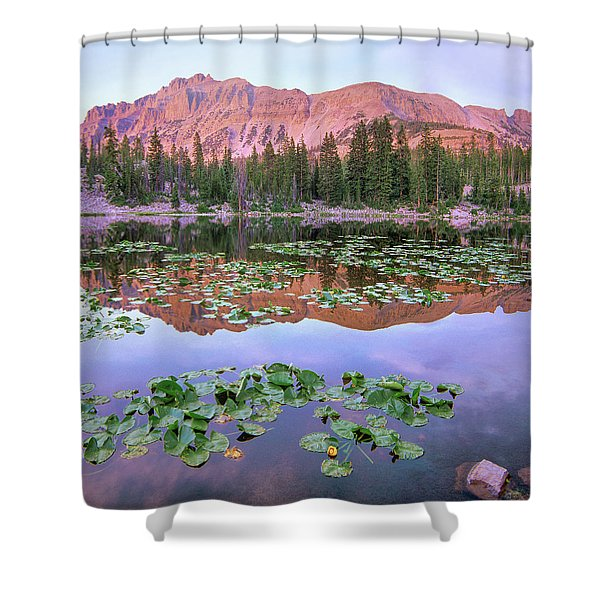 Hayden Peak And Butterfly Lake, Uinta Shower Curtain