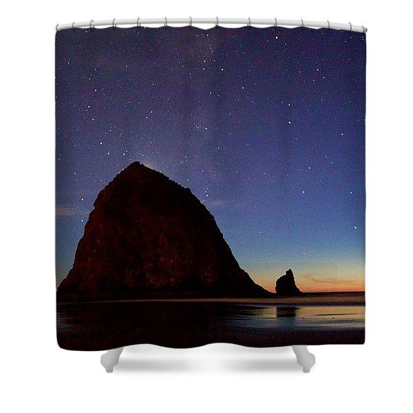 Haystack Night Sky Shower Curtain