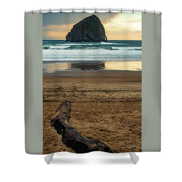 Haystack Reflection Shower Curtain