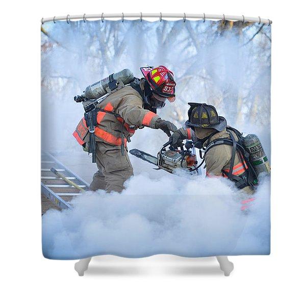 Hazardous Duty Shower Curtain