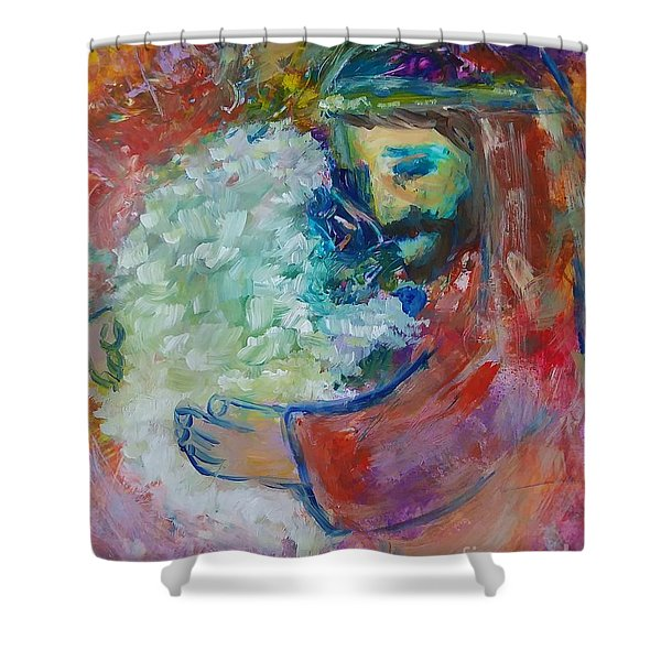 Shower Curtain featuring the painting He Came After The One by Deborah Nell