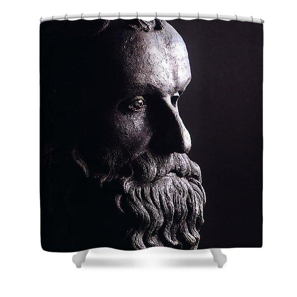 Head Of A Philosopher Shower Curtain
