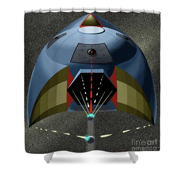 Head On Attack Shower Curtain