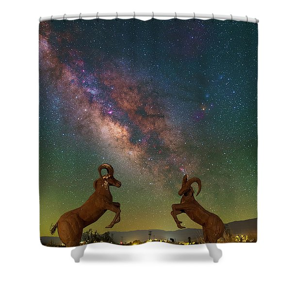 Head To Head With The Galaxy Shower Curtain