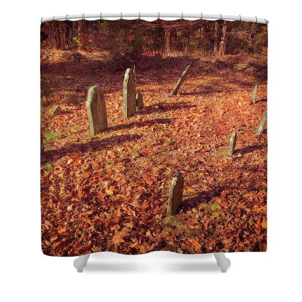 Headstones And Footstones Forgotten Shower Curtain
