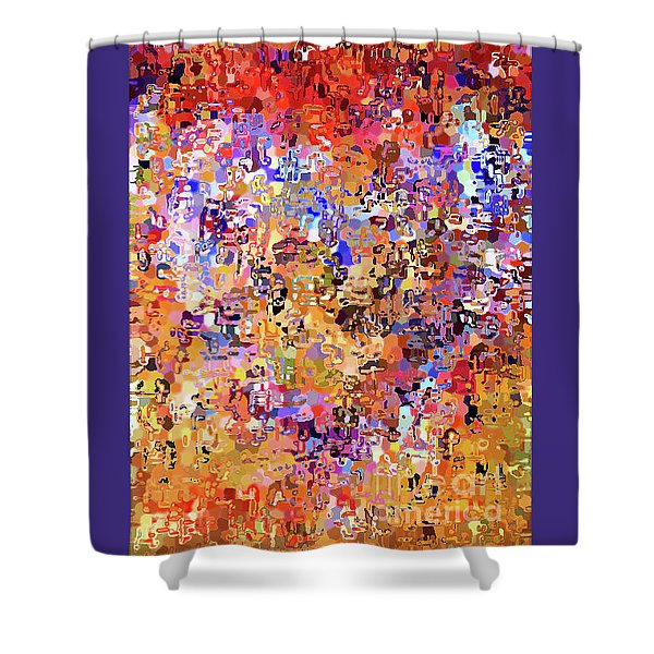 Heart Abstract 1001 Shower Curtain
