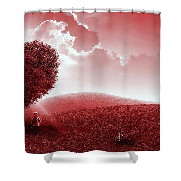 Heart Tree Shower Curtain