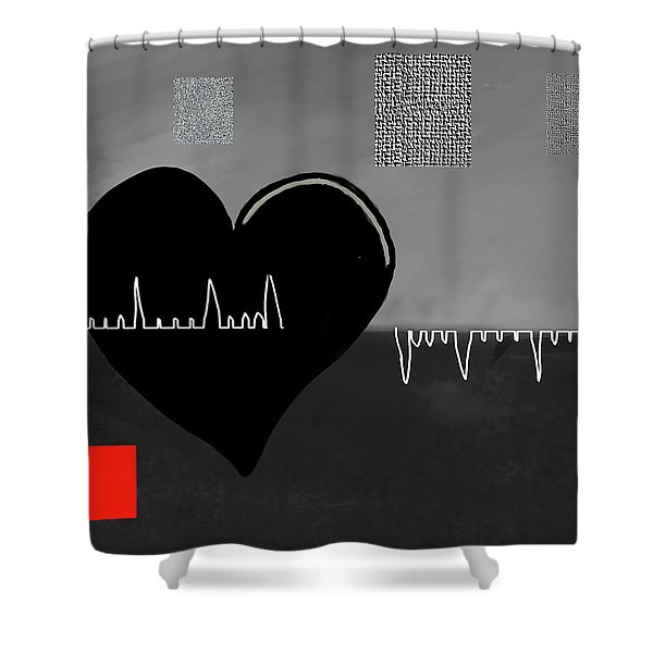 Heartbroken Shower Curtain