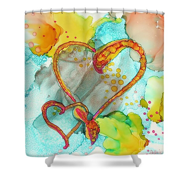 Hearts Entwined Shower Curtain