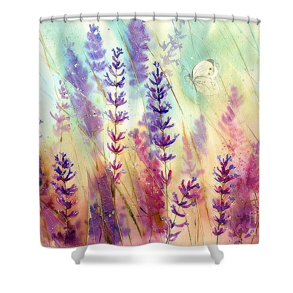 Heathers In Haze Shower Curtain