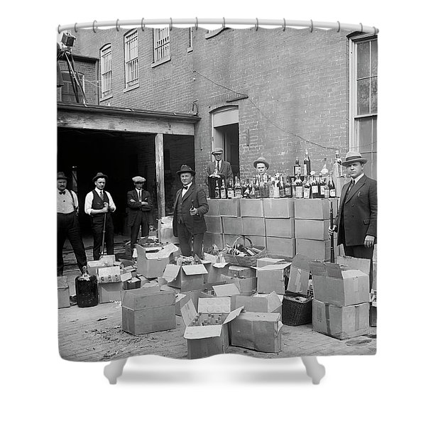 Heavily Armed Feds Seize Liquor Cache 1922 Shower Curtain