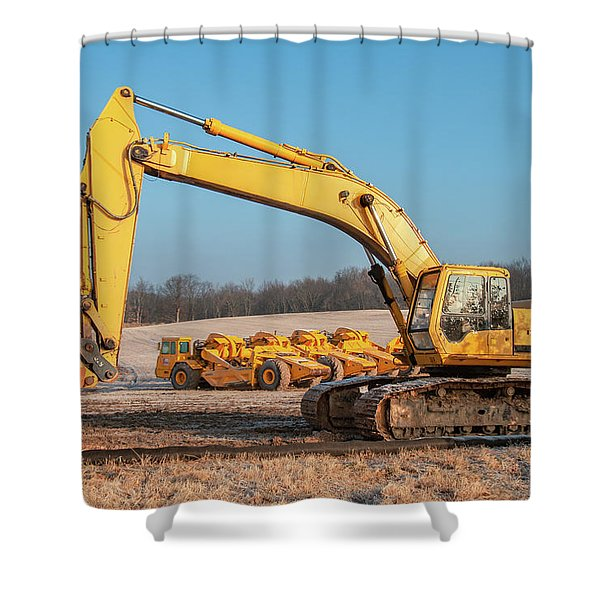 Heavy Equipment Shower Curtain