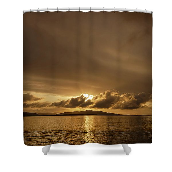 Hebridean Sunrise Shower Curtain