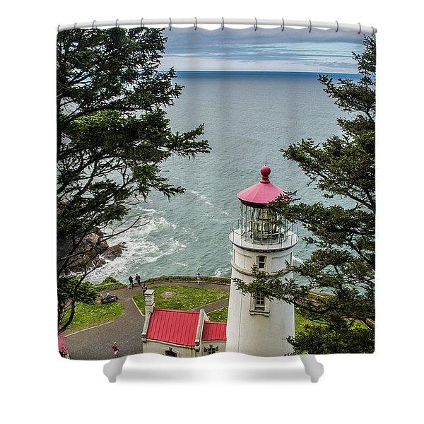 Heceta Head Lighthouse Shower Curtain