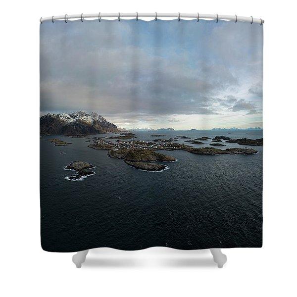 Henningsvaer Lofoten Shower Curtain