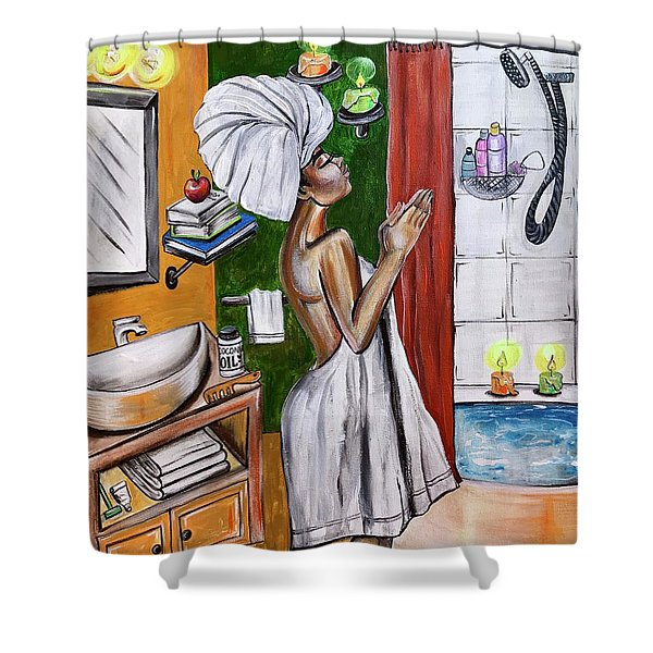 Her Prayer Shower Curtain