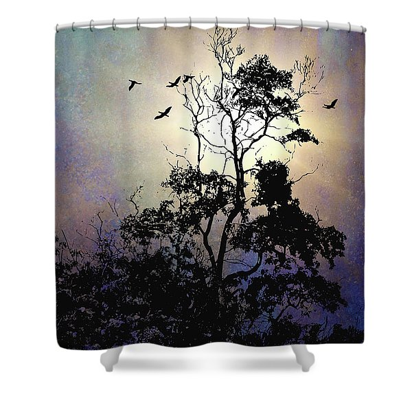 Herons At Dusk Shower Curtain