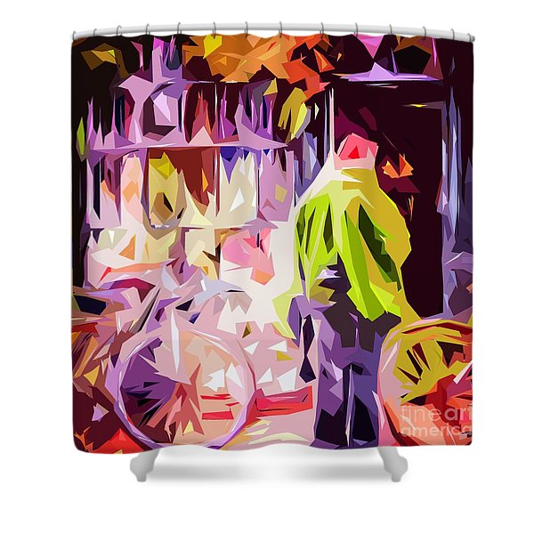 Hertford Flower Shop Shower Curtain