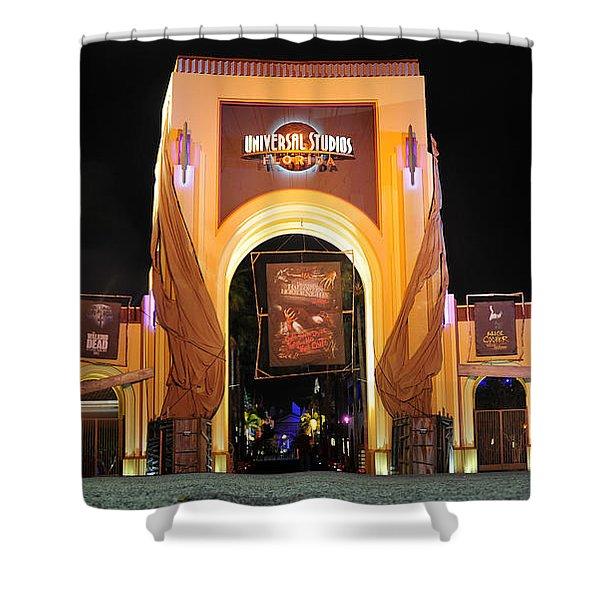 Hhn 22 Orlando Front Gate  Shower Curtain