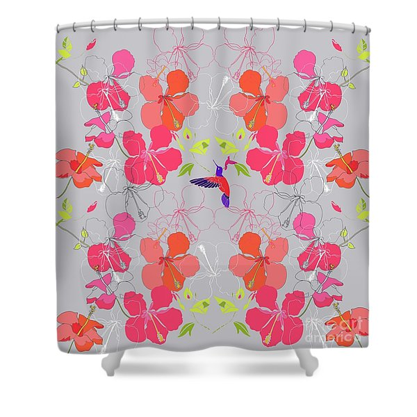 Hibiscus Repeat Shower Curtain